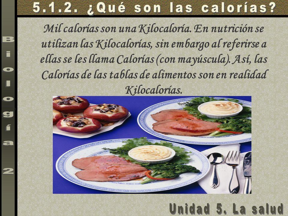 Mil calorías son una Kilocaloría. En nutrición se utilizan las Kilocalorías, sin embargo al referirse a ellas se les llama Calorías (con mayúscula). A