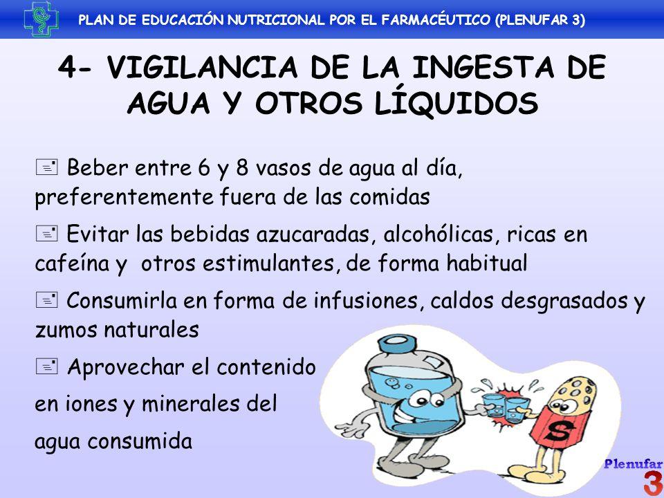 Beber entre 6 y 8 vasos de agua al día, preferentemente fuera de las comidas Evitar las bebidas azucaradas, alcohólicas, ricas en cafeína y otros esti