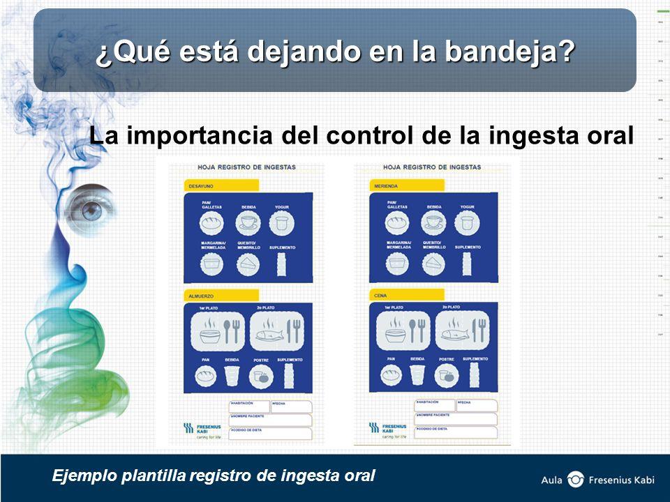 La importancia del control de la ingesta oral Ejemplo plantilla registro de ingesta oral