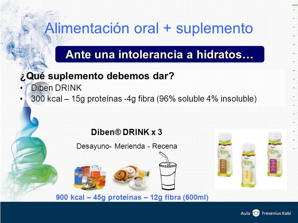 Alimentación oral + suplemento ¿Qué suplemento debemos dar.