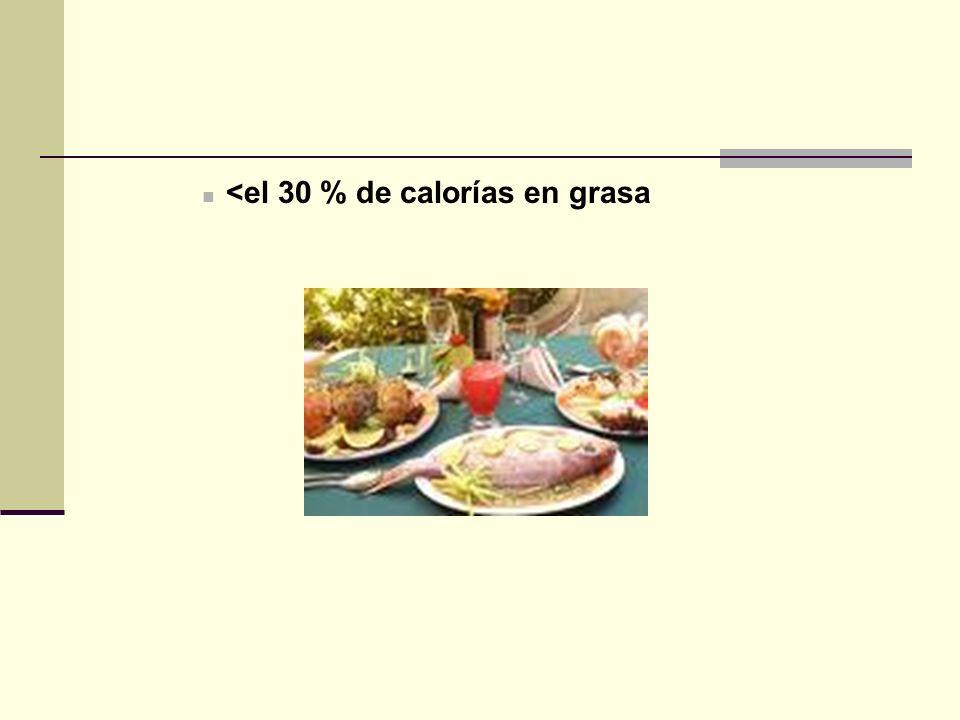 <el 30 % de calorías en grasa