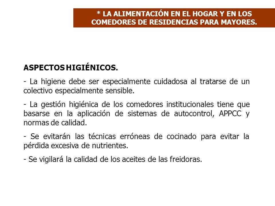 ASPECTOS HIGIÉNICOS.