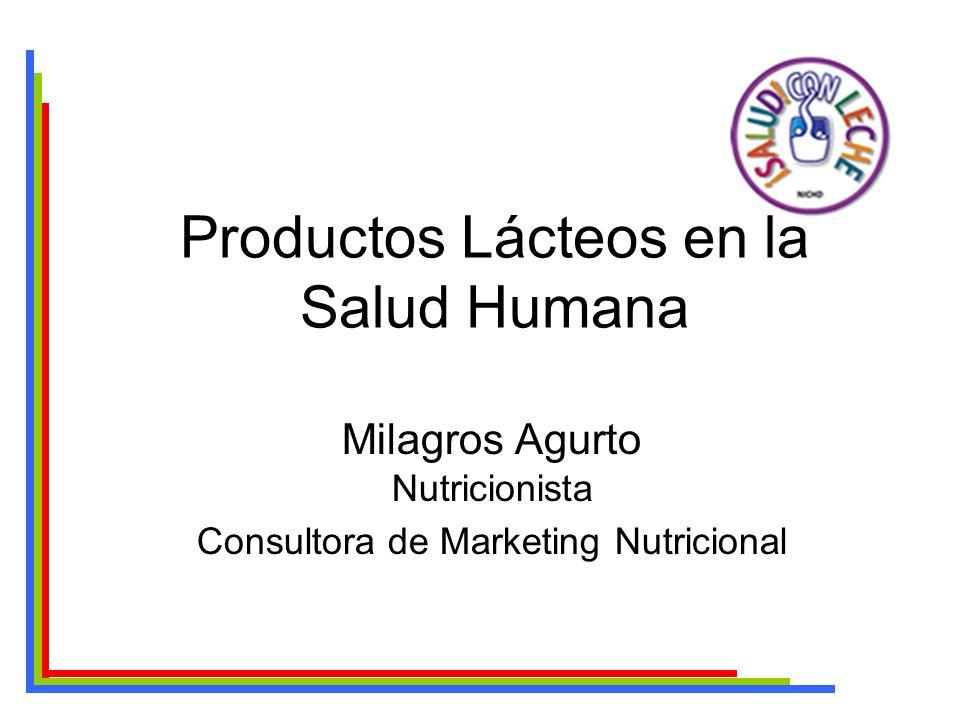 Productos Lácteos en la Salud Humana Milagros Agurto Nutricionista Consultora de Marketing Nutricional