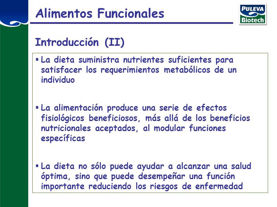 Diseño y desarrollo de Alimentos Funcionales Función fisiológica Marcadores Estudios en modelos de experimentación Ensayos de intervención nutricional en humanos Alimentos Funcionales