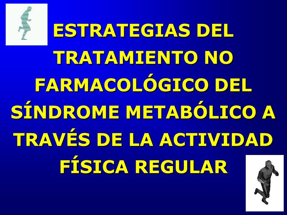 ESTRATEGIAS DEL TRATAMIENTO NO FARMACOLÓGICO DEL SÍNDROME METABÓLICO A TRAVÉS DE LA ACTIVIDAD FÍSICA REGULAR