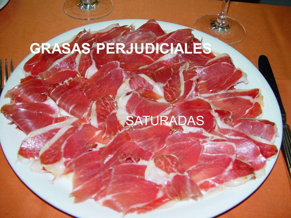 GRASAS PERJUDICIALES SATURADAS