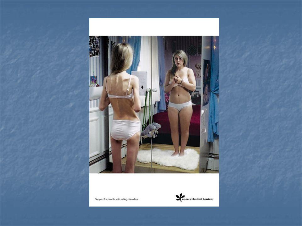 Según dicen algunos especialistas, las personas (generalmente chicas) con desórdenes alimenticios, tienden a verse gordas en el espejo aún cuando su figura es cada vez más delgada.