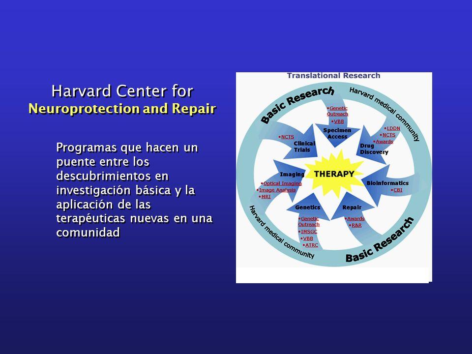 Harvard Center for Neuroprotection and Repair Harvard Center for Neuroprotection and Repair Programas que hacen un puente entre los descubrimientos en