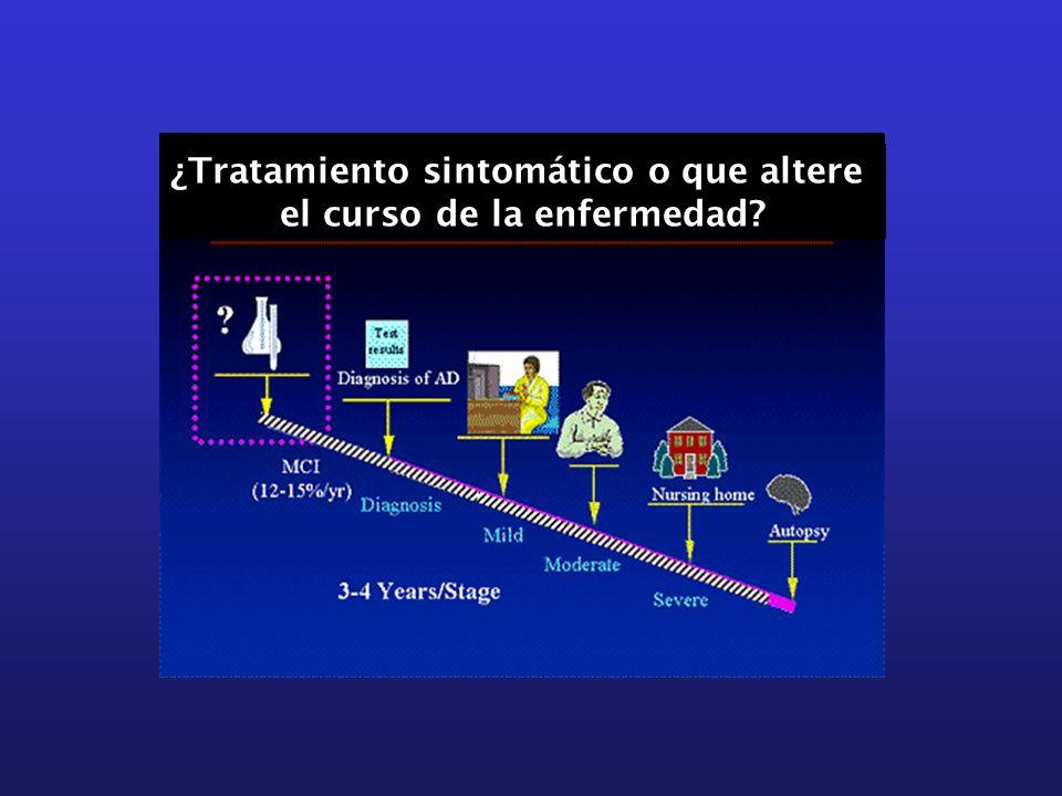 ¿Tratamiento sintomático o que altere el curso de la enfermedad?