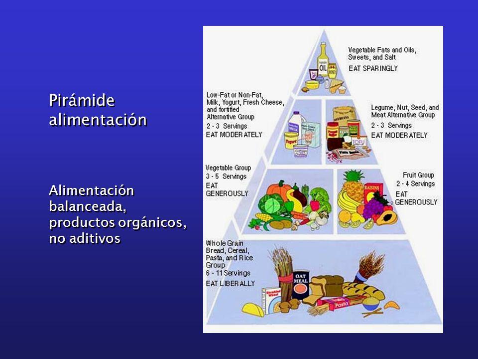 Pirámide alimentación Pirámide alimentación Alimentación balanceada, productos orgánicos, no aditivos Alimentación balanceada, productos orgánicos, no