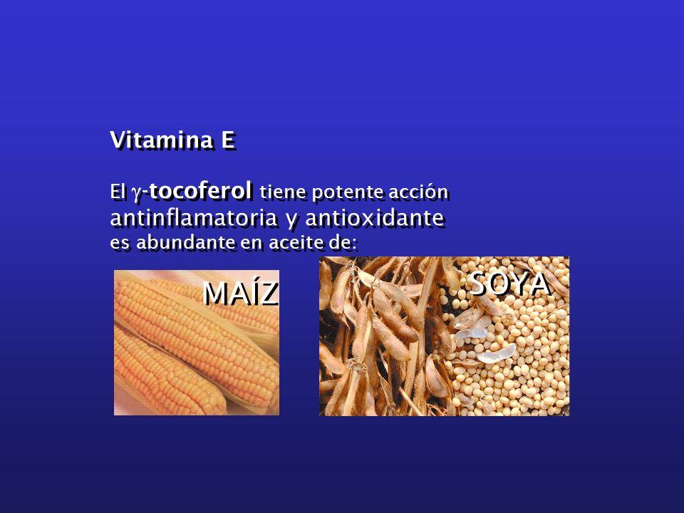 Vitamina E El -tocoferol tiene potente acción antinflamatoria y antioxidante es abundante en aceite de: Vitamina E El -tocoferol tiene potente acción