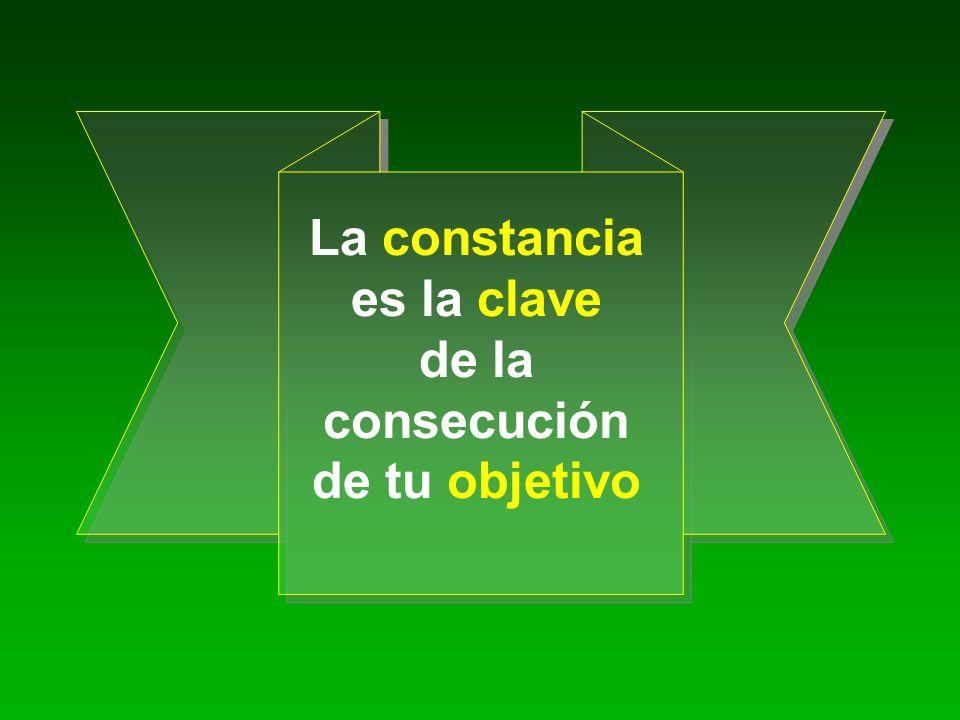La constancia es la clave de la consecución de tu objetivo