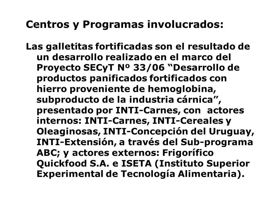 Actores externos involucrados: Ministerios: Desarrollo Social de la Nación; Desarrollo.