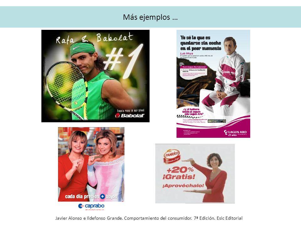 Más ejemplos … Javier Alonso e Ildefonso Grande. Comportamiento del consumidor. 7ª Edición. Esic Editorial