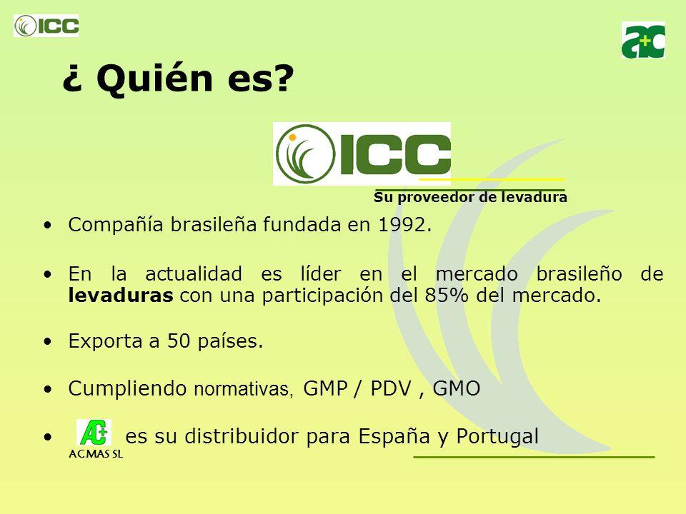 Su proveedor de Levaduras ACMAS SL Distribuidor para España y Portugal