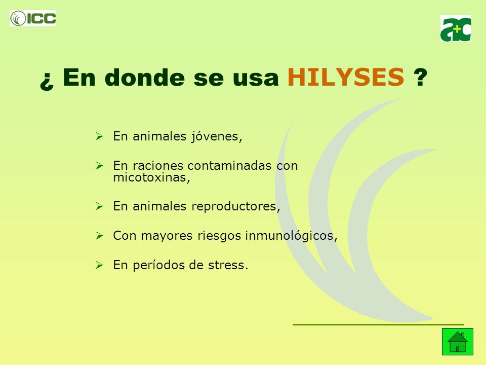 En resumen, ¿Por qué se usa HILYSES ? Protege el estado de salud de animal. Reduce la mortalidad. Mejora los índices de conversión. Evita la incidenci