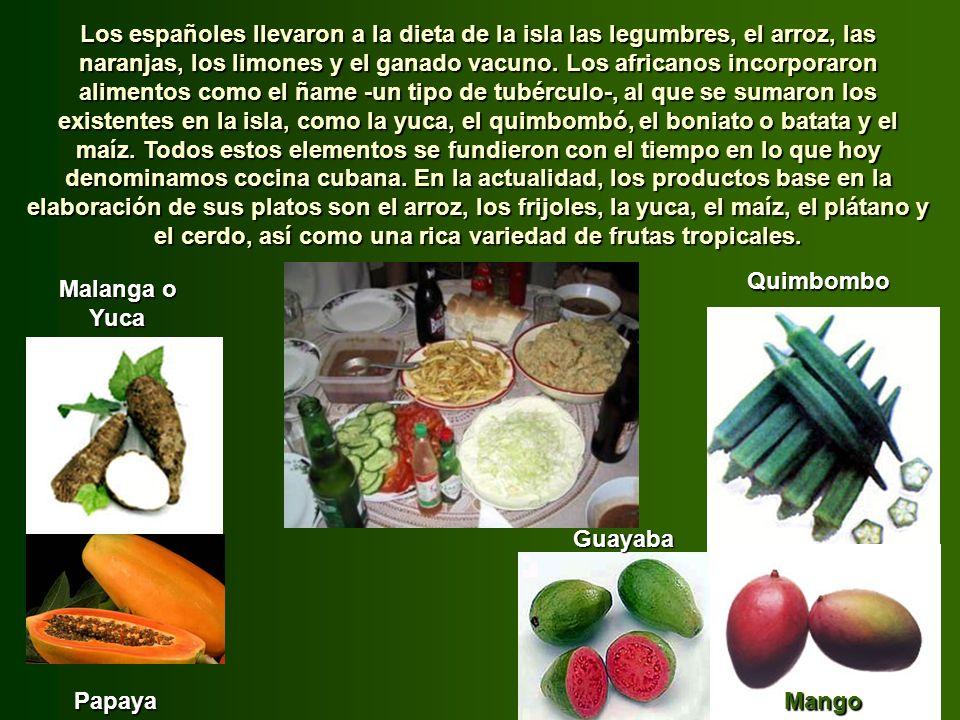 La gastronomía típica cubana es el resultado de la interacción de las influencias española -los conquistadores-, africana -los esclavos traídos luego