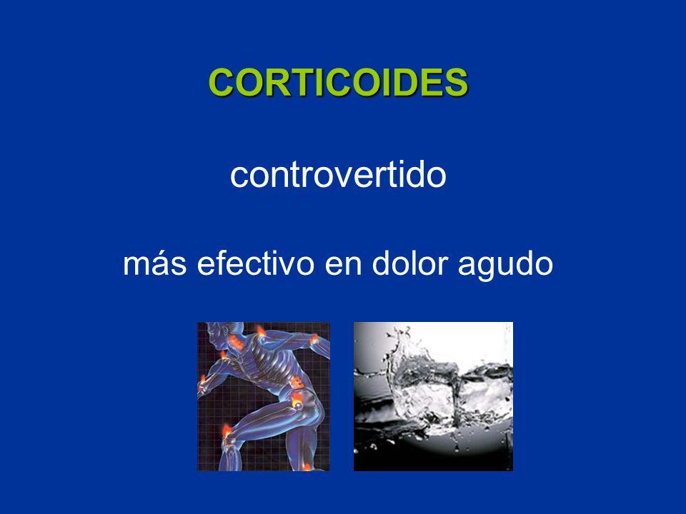 CORTICOIDES CORTICOIDES controvertido más efectivo en dolor agudo