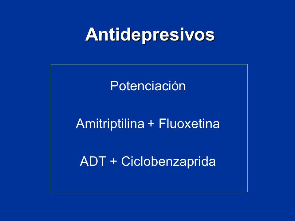Antidepresivos Potenciación Amitriptilina + Fluoxetina ADT + Ciclobenzaprida