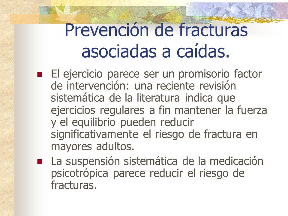 Prevención de fracturas asociadas a caídas. El ejercicio parece ser un promisorio factor de intervención: una reciente revisión sistemática de la lite