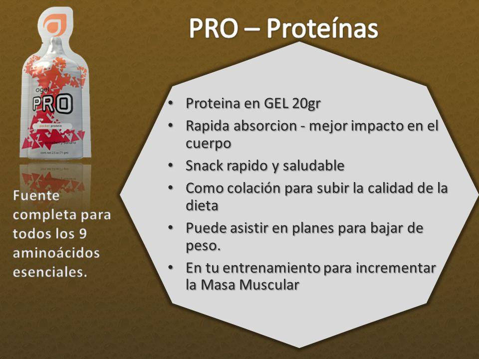 Proteina en GEL 20gr Proteina en GEL 20gr Rapida absorcion - mejor impacto en el cuerpo Rapida absorcion - mejor impacto en el cuerpo Snack rapido y s