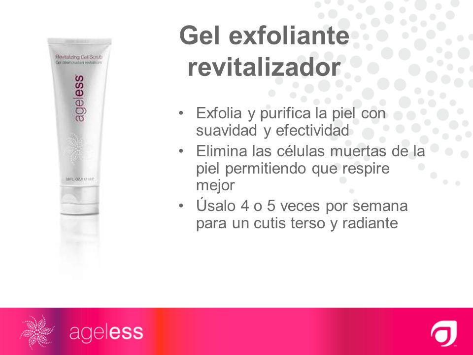 Gel exfoliante revitalizador Exfolia y purifica la piel con suavidad y efectividad Elimina las células muertas de la piel permitiendo que respire mejo