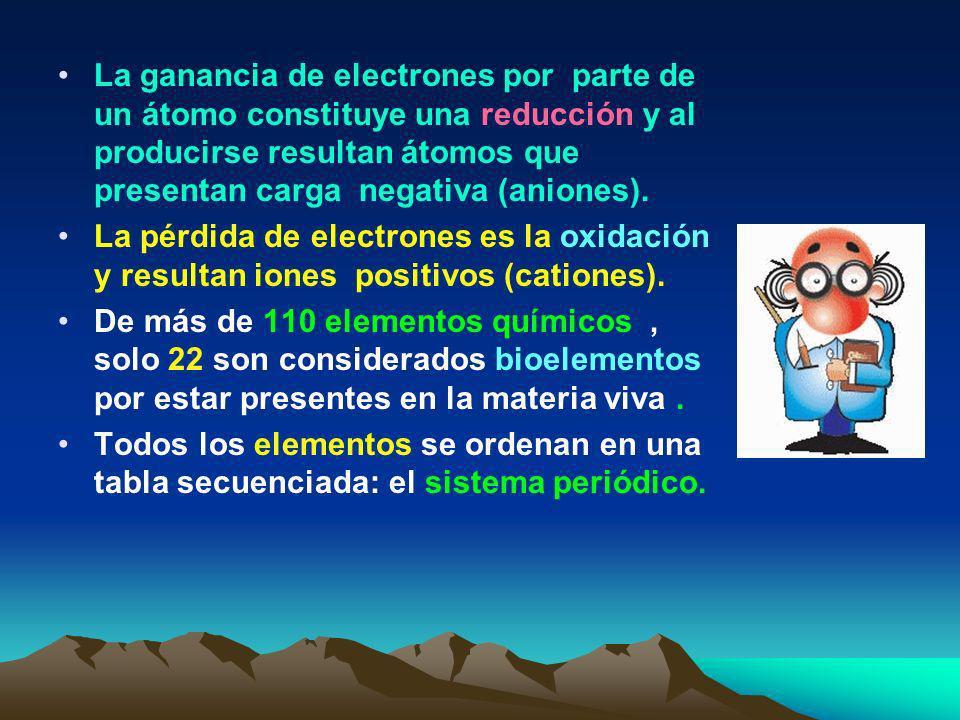 En condiciones normales el número de electrones es igual al número de protones y se dice que todo átomo es eléctricamente neutro. Los átomos se ordena