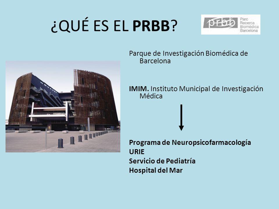 ¿QUÉ ES EL PRBB? Parque de Investigación Biomédica de Barcelona IMIM. Instituto Municipal de Investigación Médica Programa de Neuropsicofarmacología U