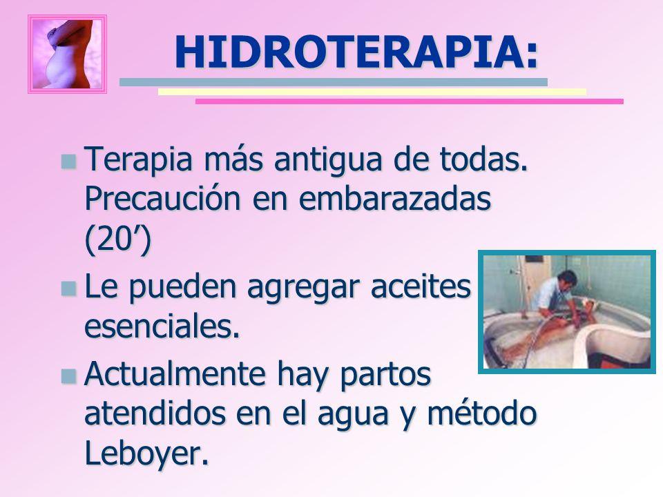 HIDROTERAPIA: Terapia más antigua de todas. Precaución en embarazadas (20) Terapia más antigua de todas. Precaución en embarazadas (20) Le pueden agre