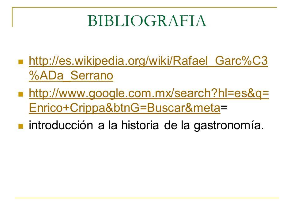 BIBLIOGRAFIA http://es.wikipedia.org/wiki/Rafael_Garc%C3 %ADa_Serrano http://es.wikipedia.org/wiki/Rafael_Garc%C3 %ADa_Serrano http://www.google.com.m