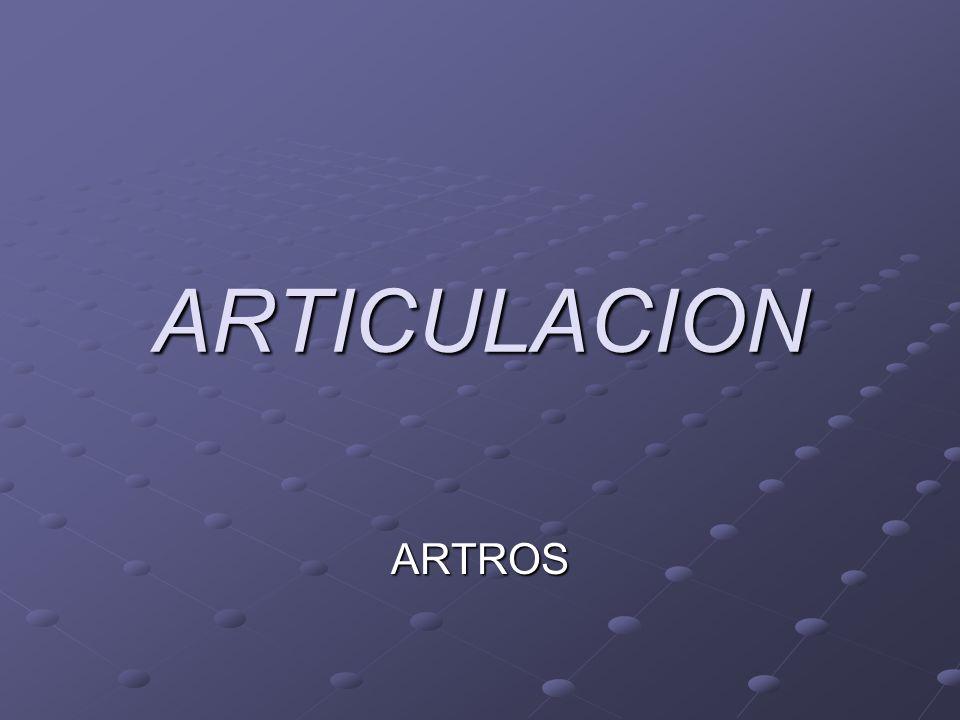 ARTICULACIONES: Una articulación es el punto de unión anatómica que se produce entre dos o más superficies óseas.