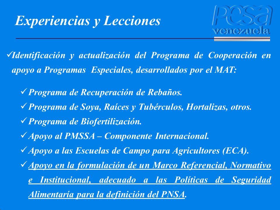 Identificación y actualización del Programa de Cooperación en apoyo a Programas Especiales, desarrollados por el MAT: Programa de Recuperación de Reba