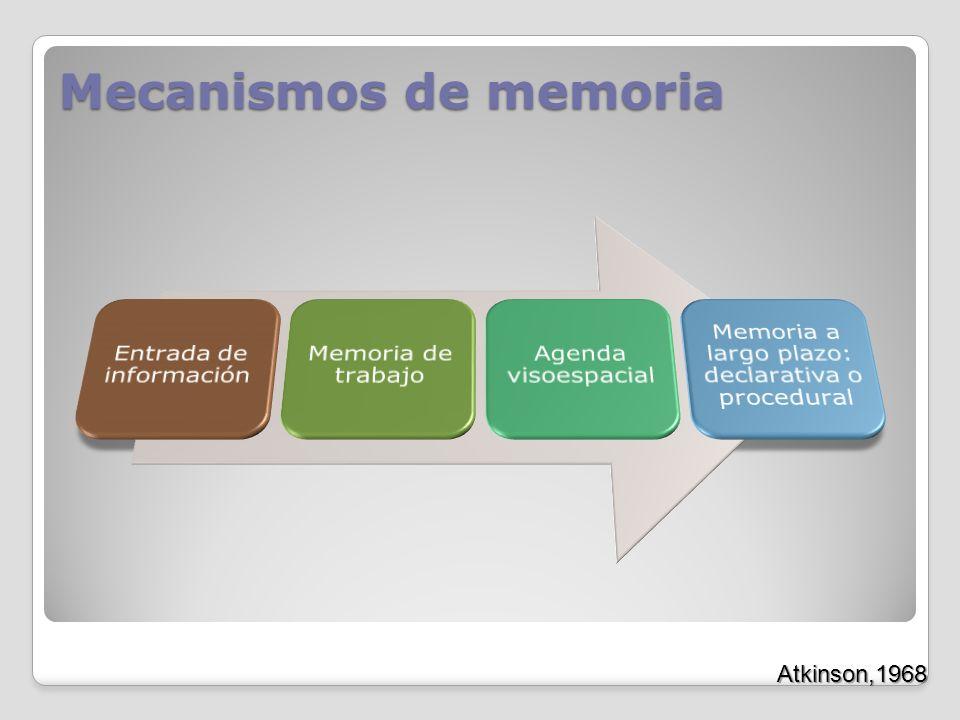 Mecanismos de memoria Atkinson,1968