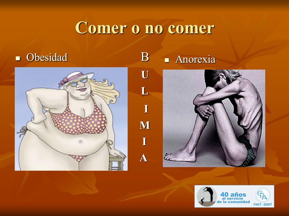 Comer o no comer Obesidad B Obesidad B U L I M I A Anorexia Anorexia