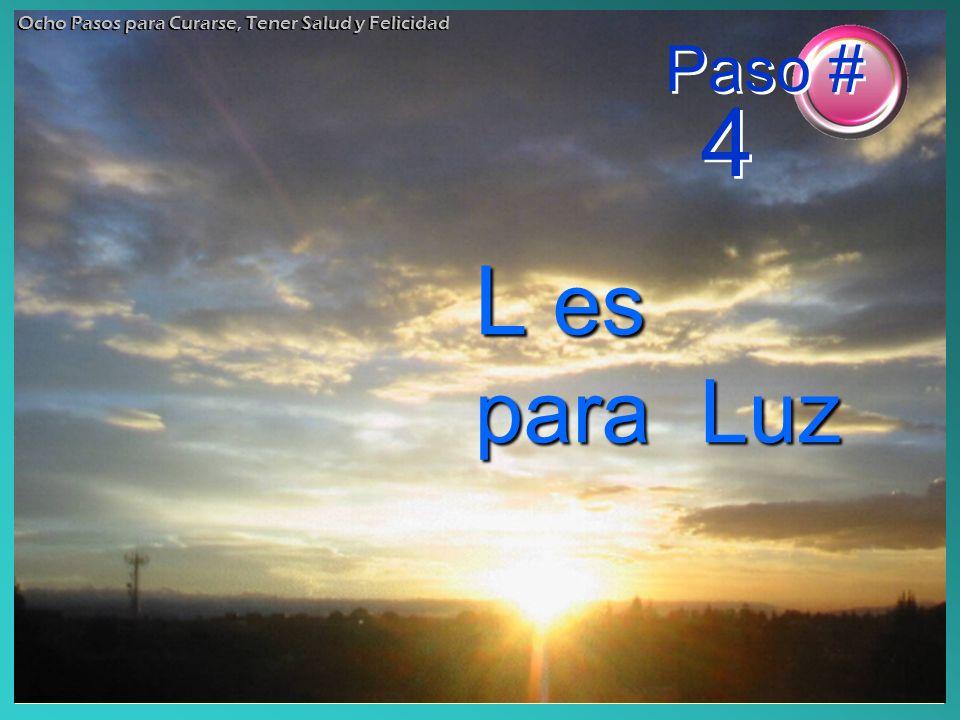 L es para Luz Ocho Pasos para Curarse, Tener Salud y Felicidad Paso # 4