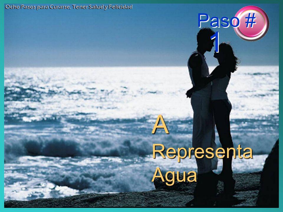 A Representa Agua Ocho Pasos para Curarse, Tener Salud y Felicidad Paso # 1