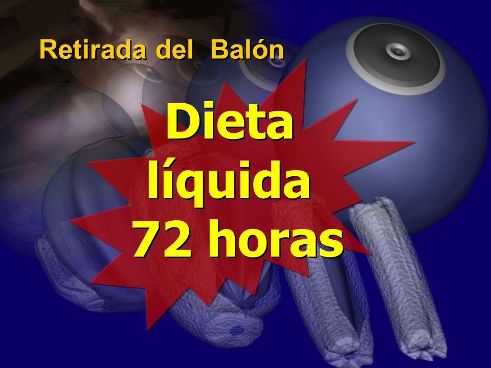 Retirada del Balón Dieta líquida 72 horas Dieta líquida 72 horas