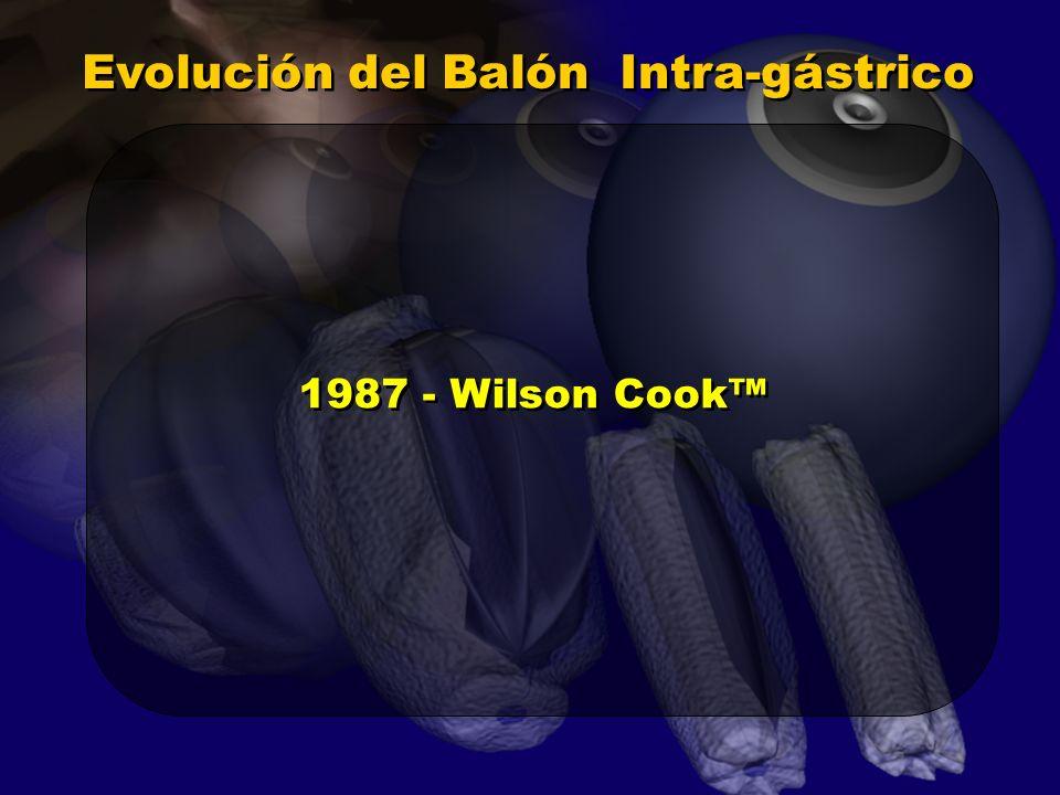 Evolución del Balón Intra-gástrico 1987 - Wilson Cook