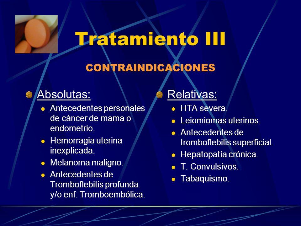 Tratamiento II Fármacos: Estrógenos Progestágenos Tibolona Antidepresivos Antihipertensivos