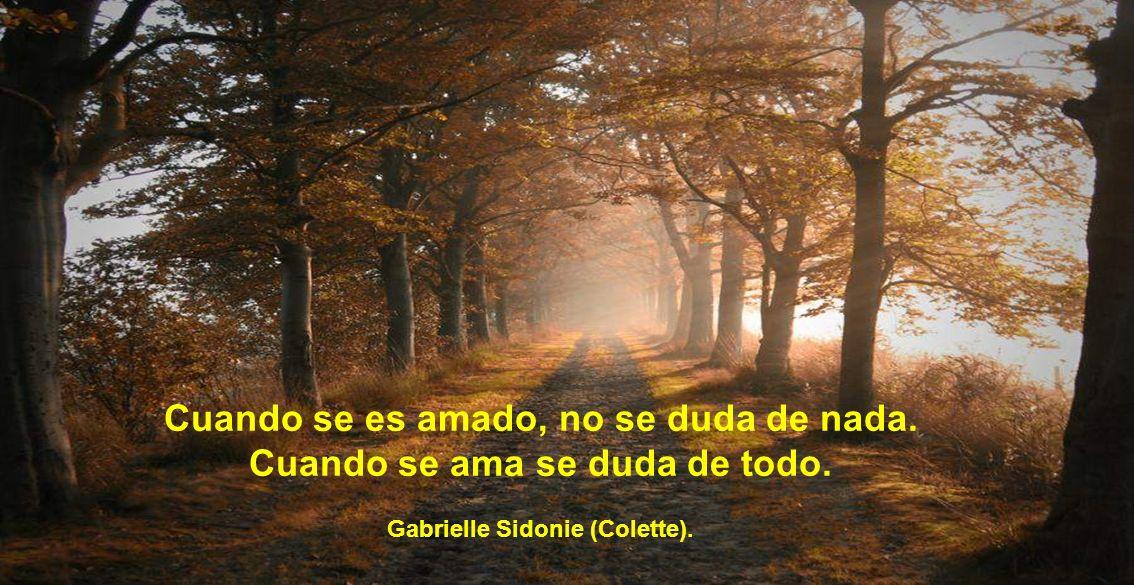 Cuando se es amado, no se duda de nada. Cuando se ama se duda de todo. Gabrielle Sidonie (Colette).