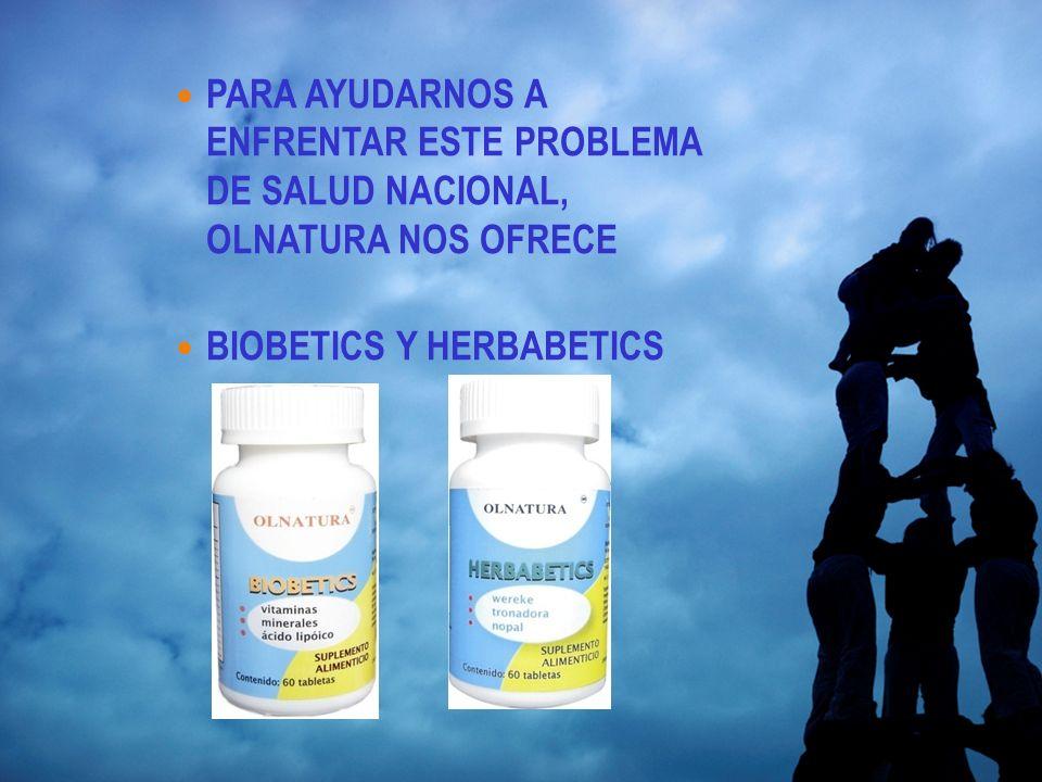 PARA AYUDARNOS A ENFRENTAR ESTE PROBLEMA DE SALUD NACIONAL, OLNATURA NOS OFRECE BIOBETICS Y HERBABETICS