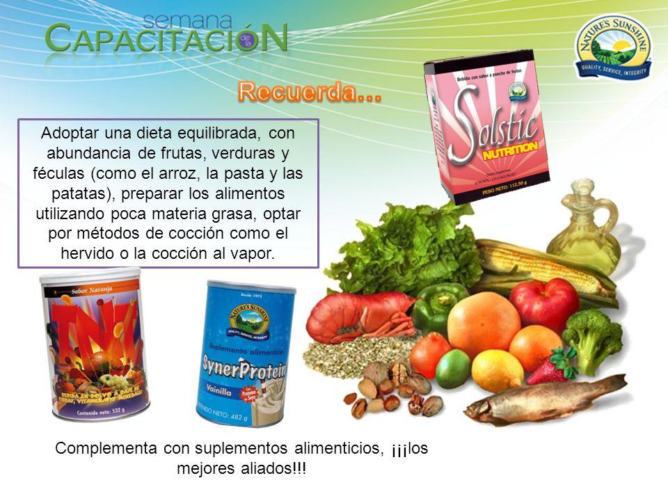 Adoptar una dieta equilibrada, con abundancia de frutas, verduras y féculas (como el arroz, la pasta y las patatas), preparar los alimentos utilizando