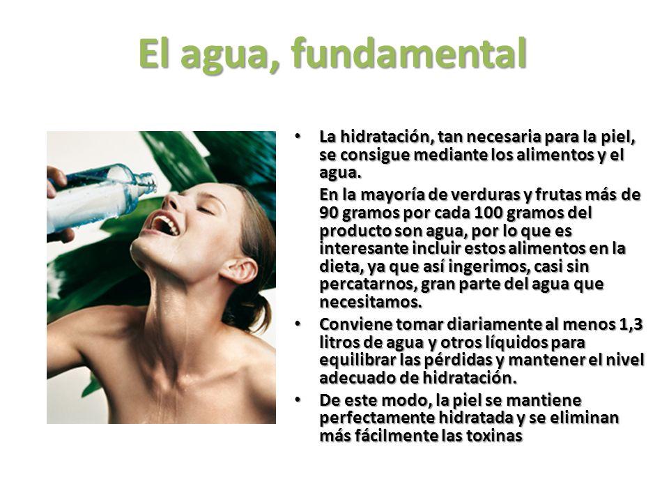 Precursores vegetales de la vitamina A para la piel: BETACAROTENOS Esta es probablemente la vitamina que más contribuye a mantener la piel sana y ayudar al bronceado ya que favorece el desarrollo de pigmentos en la piel.