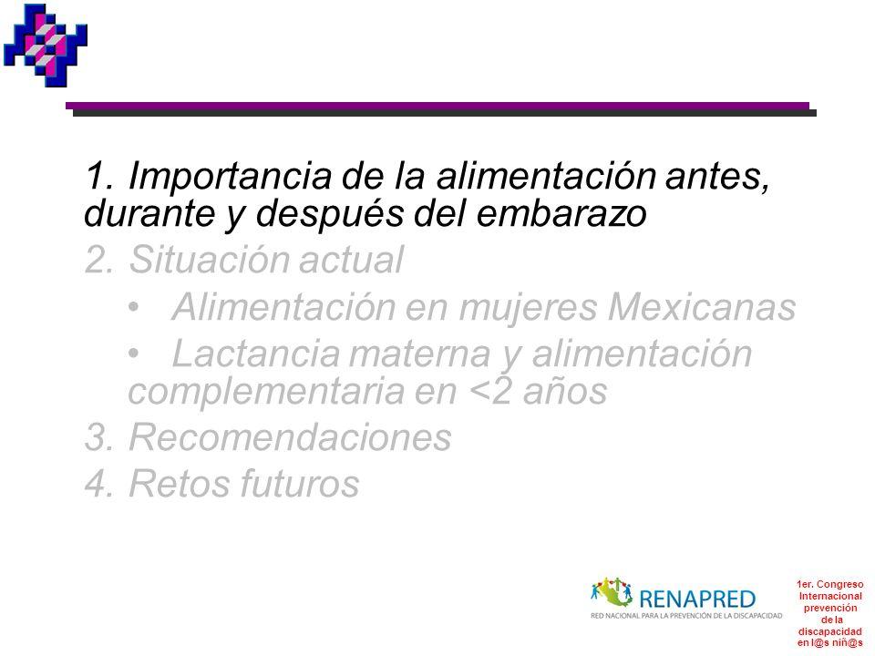 Alimentación del menor de dos años en México González-cossío, et. al. J. Nutr. 136:2928, 2006