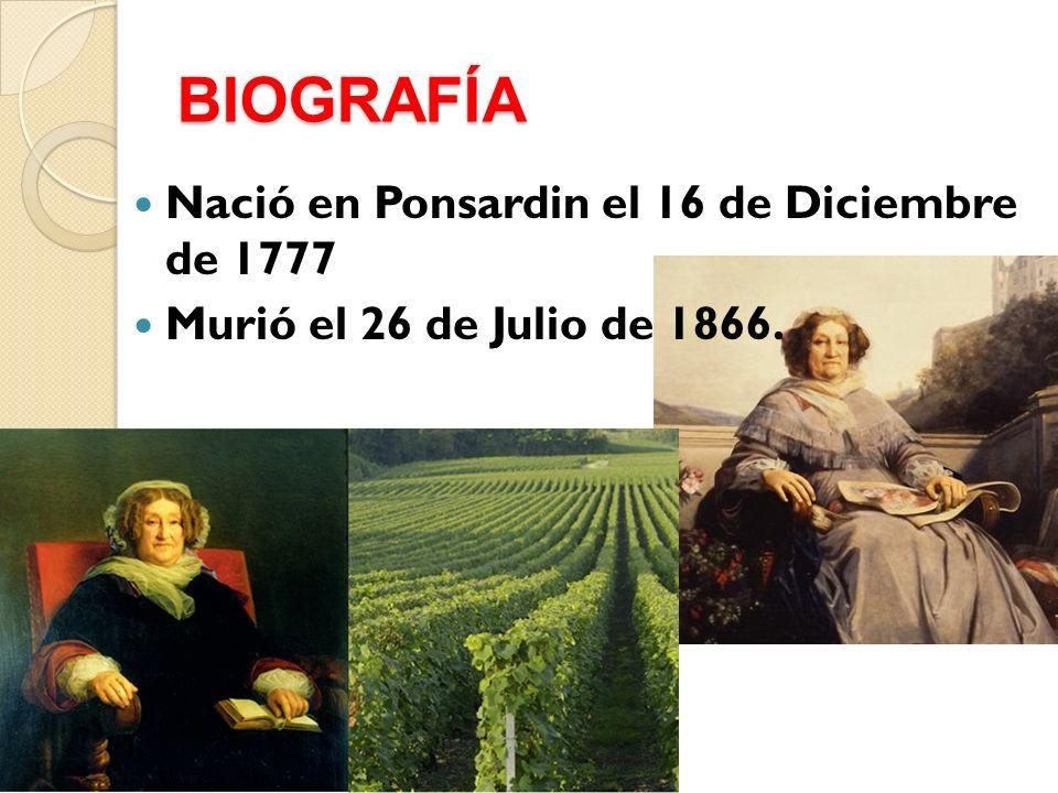 BIOGRAFÍA Nació en Ponsardin el 16 de Diciembre de 1777 Murió el 26 de Julio de 1866.