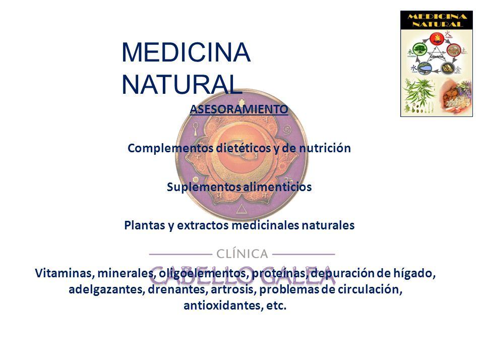MEDICINA NATURAL ASESORAMIENTO Complementos dietéticos y de nutrición Suplementos alimenticios Plantas y extractos medicinales naturales Vitaminas, mi