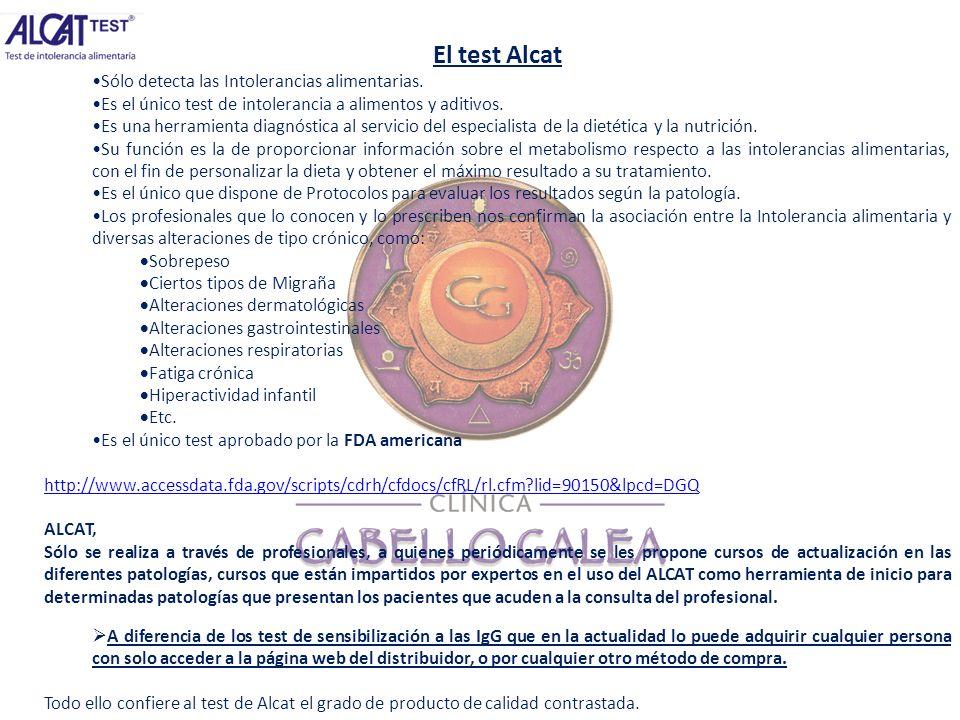 El test Alcat Sólo detecta las Intolerancias alimentarias. Es el único test de intolerancia a alimentos y aditivos. Es una herramienta diagnóstica al