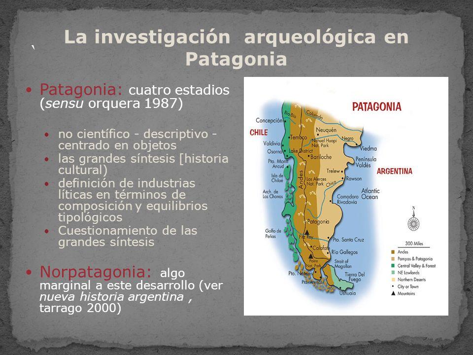 región de gran diversidad geográfica región de gran diversidad geográfica litoral atlántico y su hinterland litoral atlántico y su hinterland la estepa semi-árida de la pampa, Rió Negro y Neuquén la estepa semi-árida de la pampa, Rió Negro y Neuquén el ecotono del Neuquén y Rió Negro el ecotono del Neuquén y Rió Negro la Payunia o Patagonia del sur de Mendoza la Payunia o Patagonia del sur de Mendoza La Patagonia propiamente dicha La Patagonia propiamente dicha Isla de la Tierra del Fuego Isla de la Tierra del Fuego El norte de la Patagonia: una región de contacto entre dos grandes áreas geoculturales, la región andina y la Patagonia propiamente dicha El norte de la Patagonia: una región de contacto entre dos grandes áreas geoculturales, la región andina y la Patagonia propiamente dicha registro arqueológico y etnohistórico registro arqueológico y etnohistórico descripción de viajeros y documentos históricos descripción de viajeros y documentos históricos Región de grandes contrastes en la que ha sido necesario desarrollar diversas estrategias adaptativas Región de grandes contrastes en la que ha sido necesario desarrollar diversas estrategias adaptativas