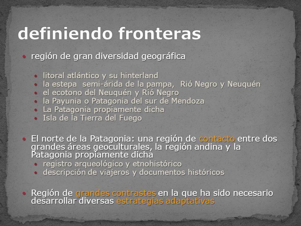 Algunos Sitios Arqueológicos de la Patagonia 1.Los Toldos, 2.