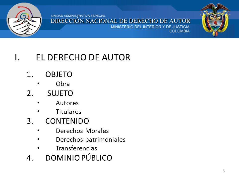 OBJETO DE PROTECCIÓN (LA OBRA) DEFINICIÓN: Art.